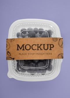Frutta in confezione mock-up