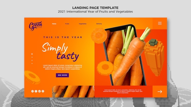 Fruits and vegetables year landing page