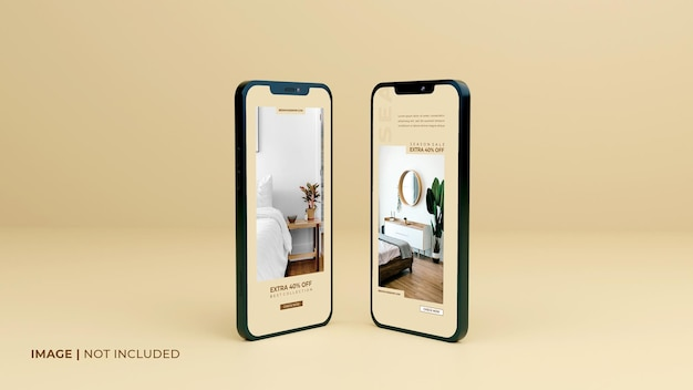 Полноэкранный-черный-смартфон-макет-дизайн-с-шаблоном-презентации-мобильного приложения