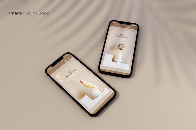フルスクリーン-ブラック-スマートフォン-モックアップ-デザイン