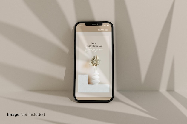 フルスクリーン-ブラック-スマートフォン-モックアップ-デザイン Premium Psd