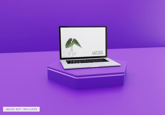 Full screen laptop mockup