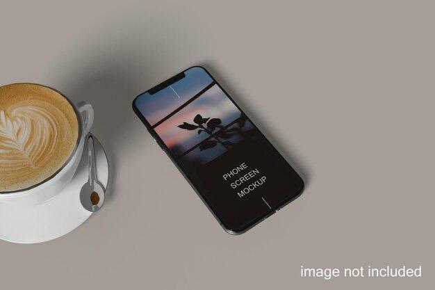 전체 화면 스마트폰 목업 디자인
