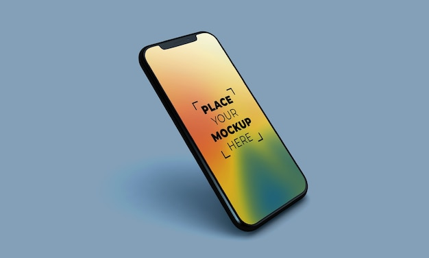 Full screen smartphone mockup