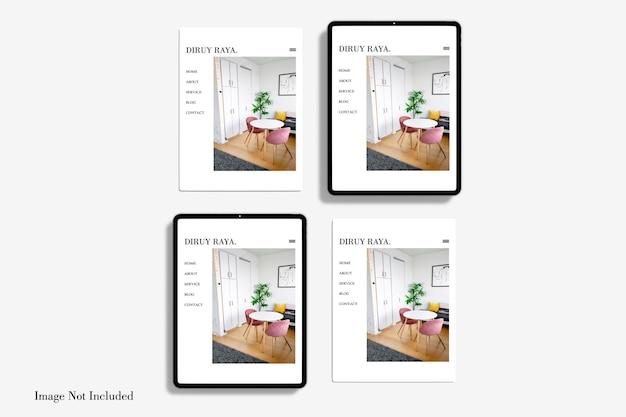 전체 화면 태블릿 모형 디자인