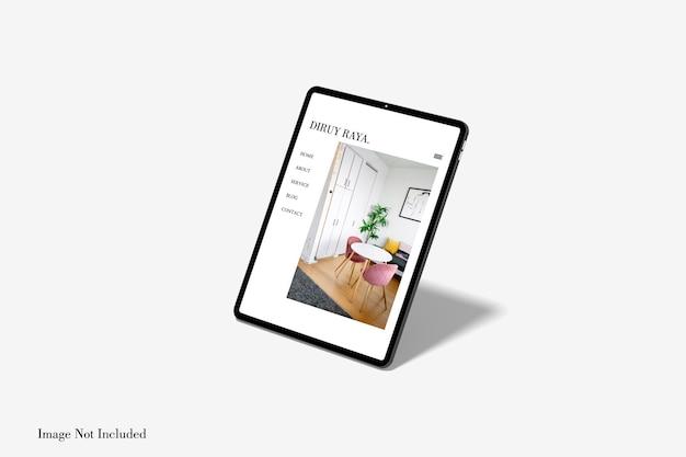 Дизайн макета полноэкранного планшета