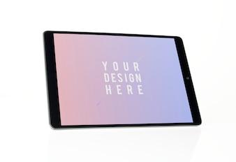Full screen tablet mockup design