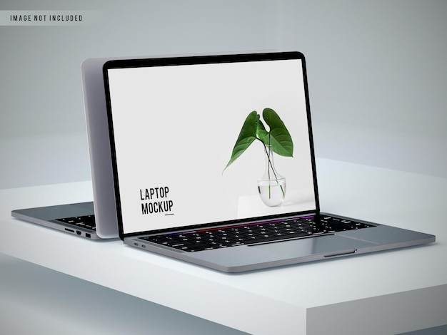 Fullscreen laptop mockup design