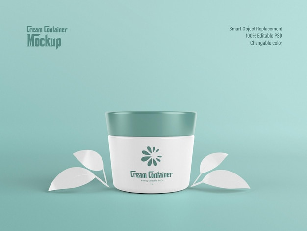 Fully editable cream container mockup