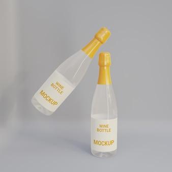Fully editablewine bottle mockup