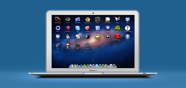 Fully layered macbook air  psd