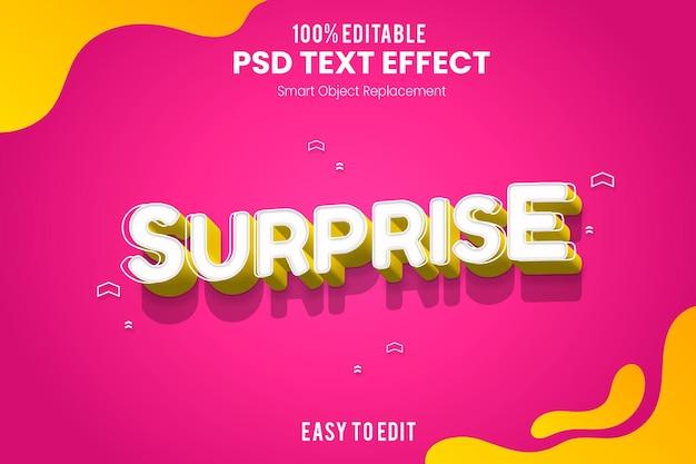 Забавный дизайн 3d текстовый эффект