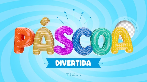 Fun easter in brazil colorful 3d render