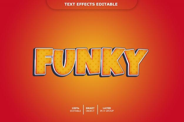 Funky 3d текстовый эффект редактируемый