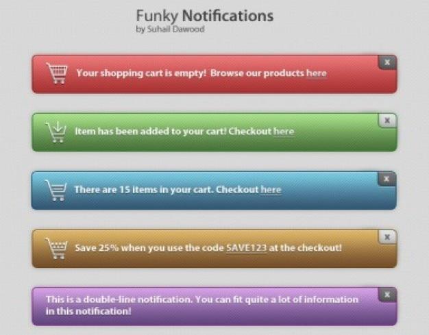Notifiche funky