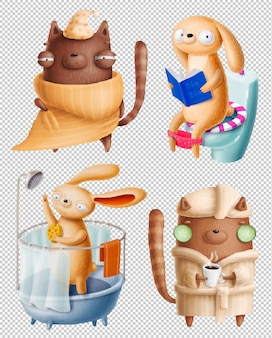 Funny animals clipart