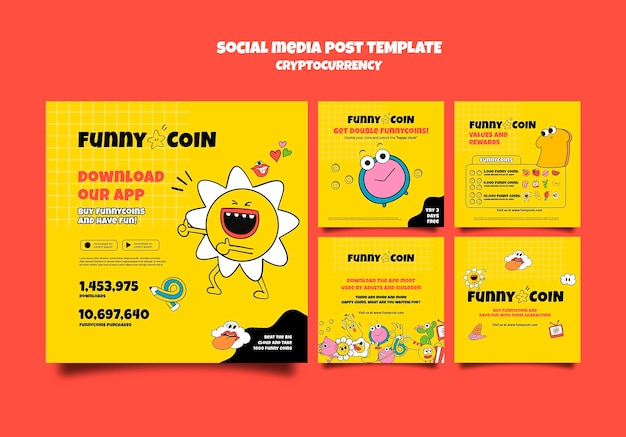 Funny coin cryptocurrency social media post