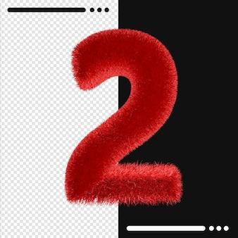 모피와 절연 번호 2 3d 렌더링