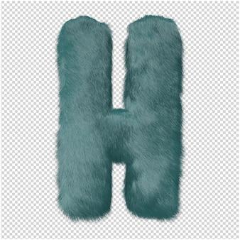 毛皮の文字の3dレンダリング
