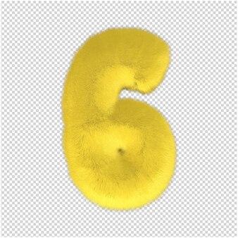 Мех номер 6 освещение цвета 3d рендеринг