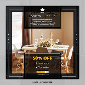 Furniture banner social media post templates