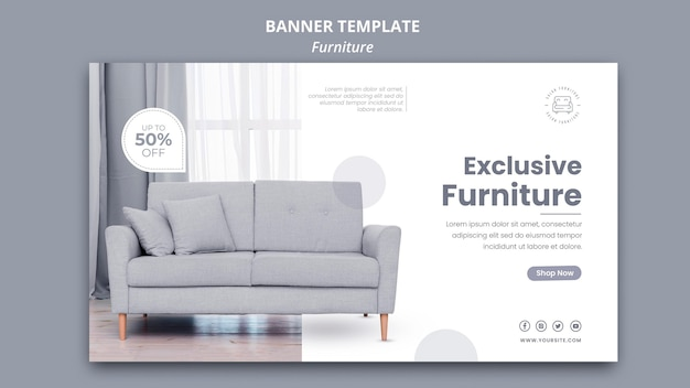 Furniture banner template design