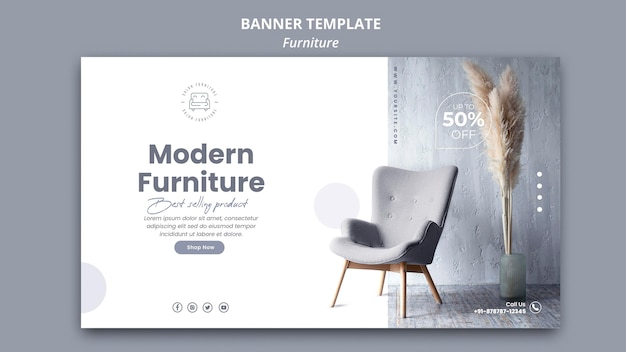 Furniture banner template style