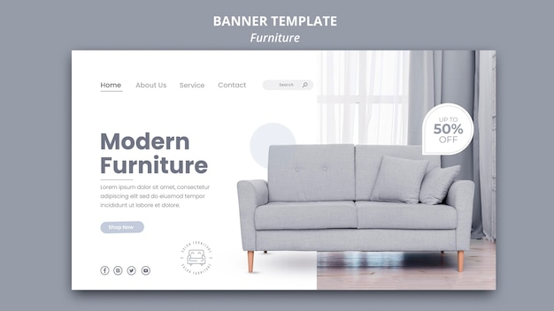 Furniture banner template theme