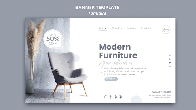 Furniture banner template