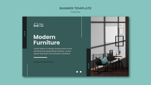 Furniture concept banner template
