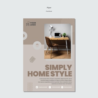 Furniture concept flyer template