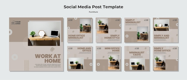 Furniture concept social media post template