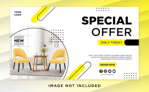 Furniture design banner template