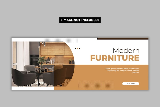 Furniture facebook cover page template