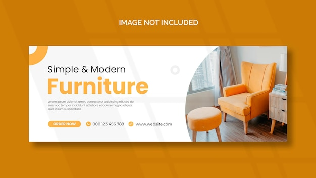 Furniture facebook cover and panoramic banner template