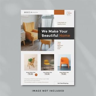 Шаблон flyer мебели
