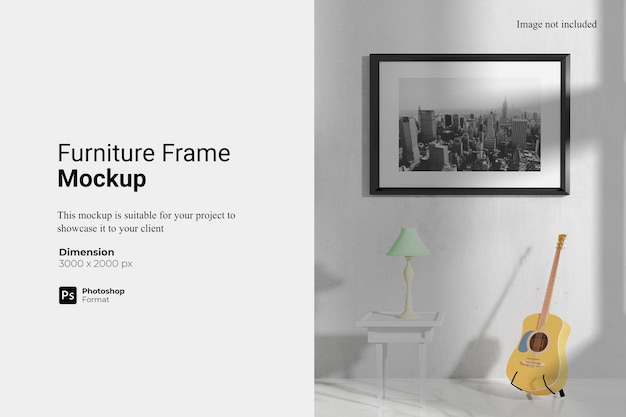 Furniture frame mockup design isolated