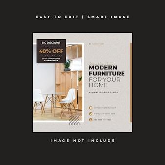 Furniture instagram post banner template