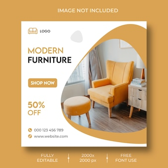 Furniture instagram social media post template