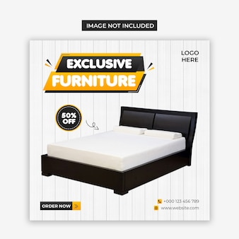 Furniture product social media and instagram post template