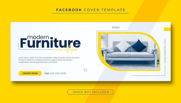 Furniture sale facebook cover photo and web banner