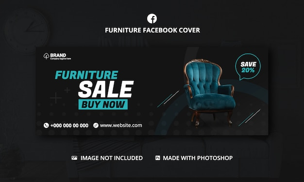 Furniture sale facebook cover template