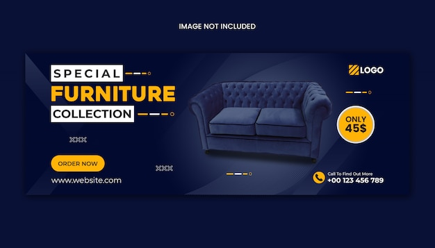 Furniture sale facebook cover template