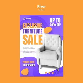 Modello di volantino di vendita di mobili