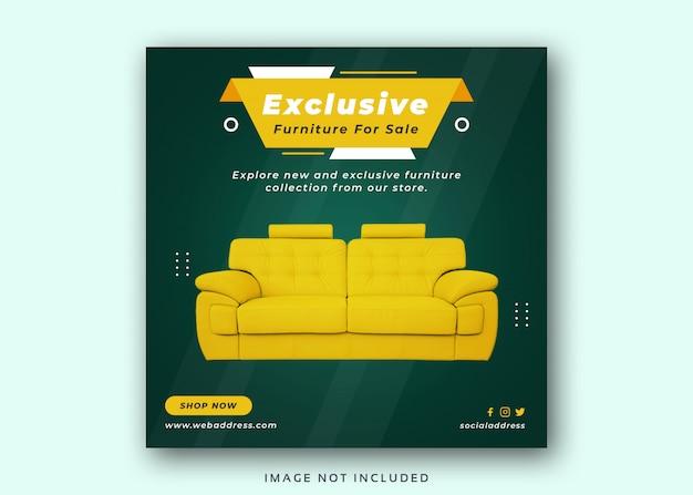 Furniture sale social media instagram post banner template