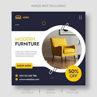 Furniture sale social media and instagram post template