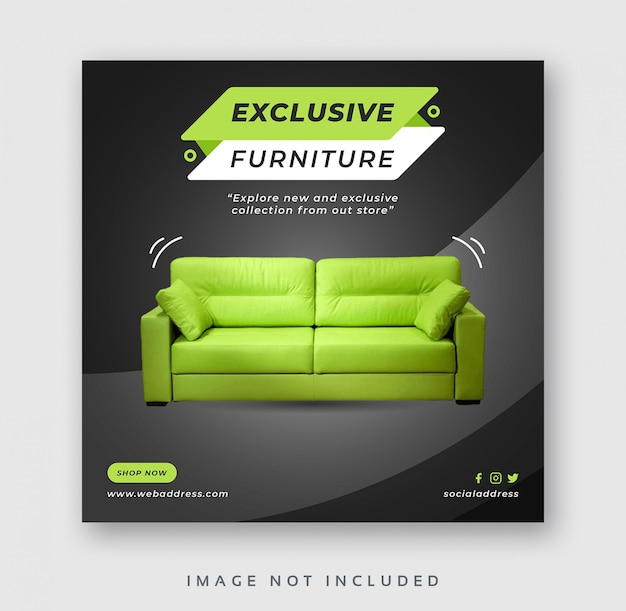 家具販売ソーシャルメディア投稿webバナー