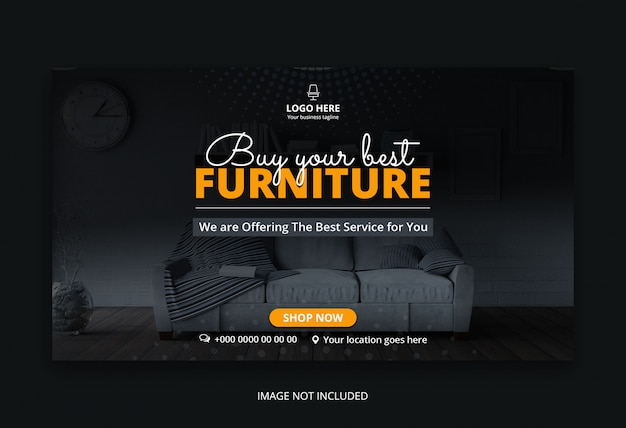 Furniture sale web banner template