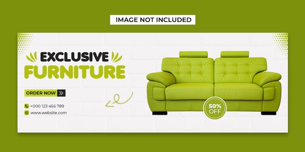 Furniture social media and facebook cover post template