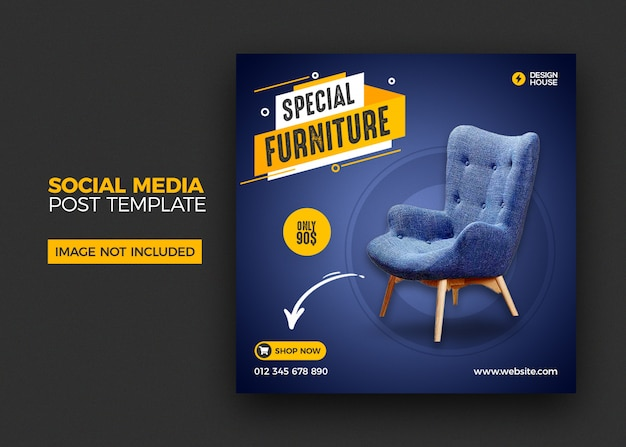 Furniture social media instagram post template